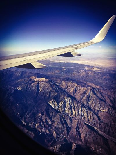 Aerial View Aircraft Wing Mode Of Transport Air Vehicle Transportation Flying Travel Landscape Scenics Journey Mountain Tranquil Scene On The Move Beauty In Nature Mid-air Majestic