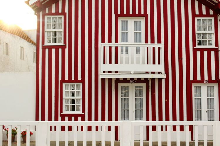 Architecture Building Exterior Red House Residential Building Outdoors Aveiro, Portugal Aveirobay