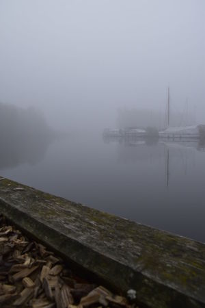 Barton Broad Barton Turf Beauty In Nature Day Fog Lake Nature Nautical Vessel No People Norfolk Norfolk Broads Outdoors Reflection Sky Tranquil Scene Tranquility Transportation Tree Water