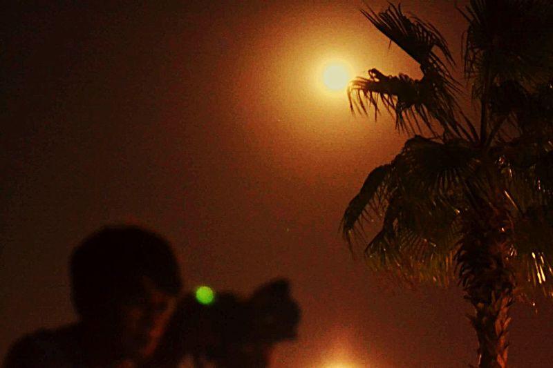 Silhouette Supermoon2016 Beauty In Nature Burjalarabdubai Greii'sphotography Night