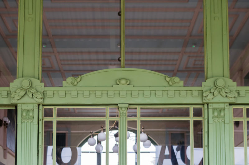 This picture shows one of many details of the Art Nouveau railway station in Poland's Nowy Sącz. I just love the elegant lines and intricate details of its entrance! Architectural Column Architecture Built Structure My Best Travel Photo
