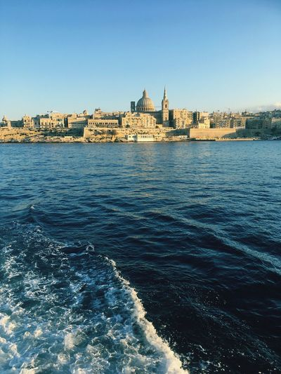 Valletta Ferry City Of Culture 2018 Ferry Malta Valetta Architecture Built Structure Building Exterior Water Clear Sky Outdoors History Waterfront No People Travel Destinations City Cityscape
