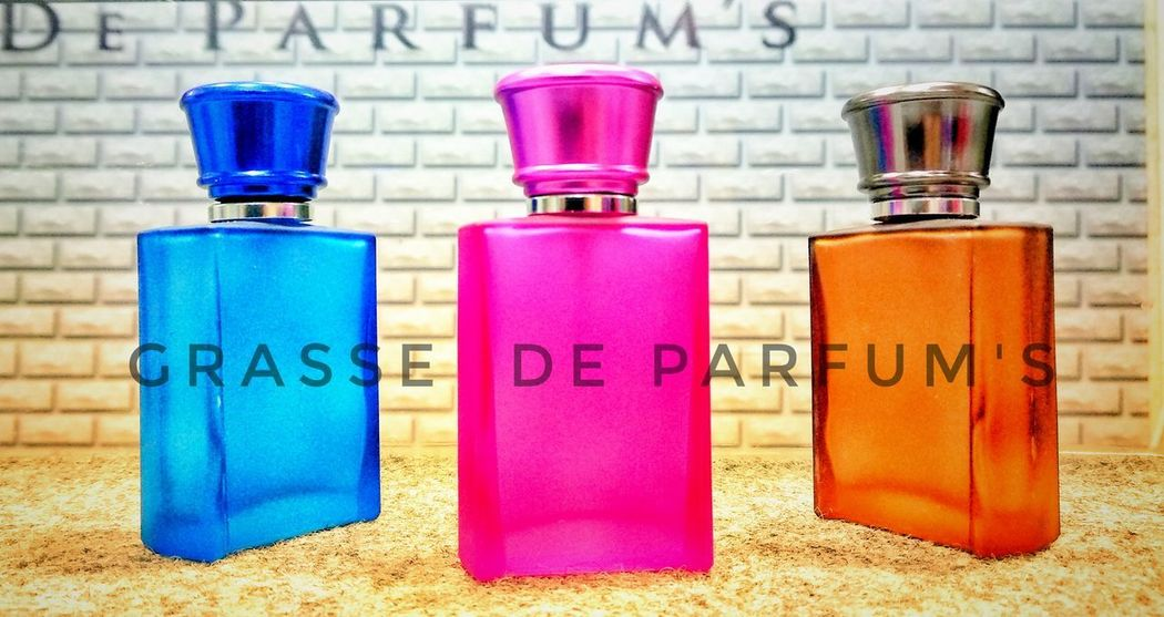 Grasse de parfum In A Row Blue Day No People Close-up Body Care Indoors