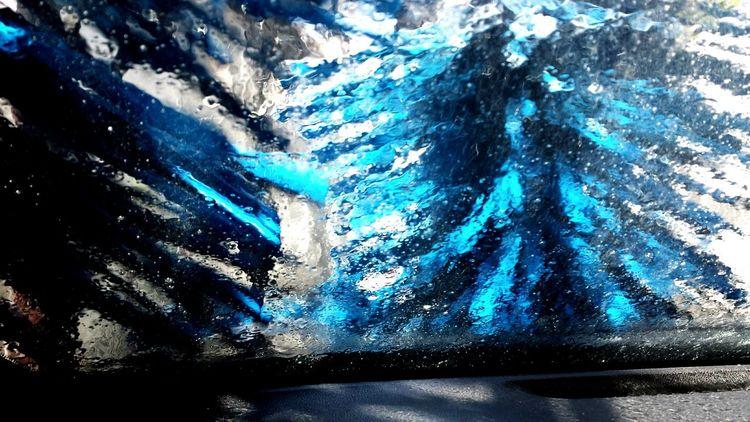 Fine Art Photography Car Washing Car Wash Day Car Wash Car Wash Car Wash Abstract Car Wash Chillin Carwash CarWashTime Carwashing Blue Inside the car while being washed