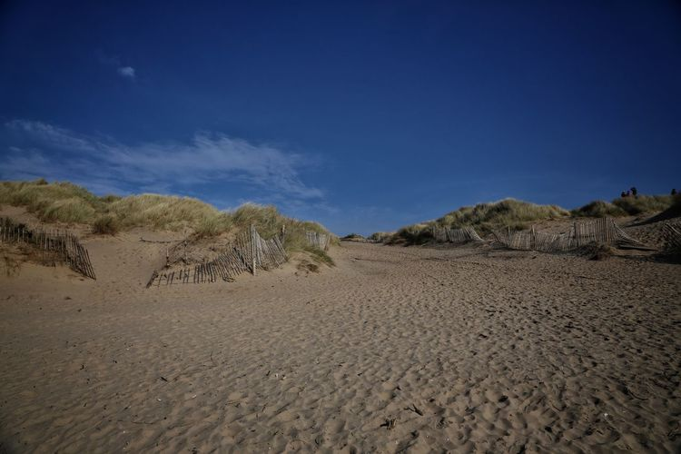 Formsby Beach Formsby Beach Liverpool Sky Scenics - Nature Desert Land Blue Landscape Tranquility Tranquil Scene Beauty In Nature Nature Environment Sand No People Cloud - Sky Non-urban Scene Arid Climate Barren Remote Climate Day Outdoors
