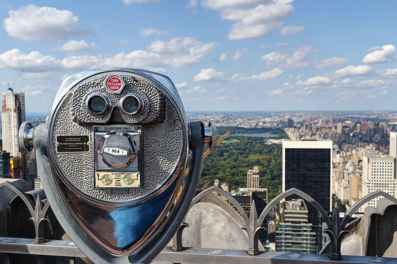 Views from the Top of the Rock, Central Park. 2017 Central Park Midtown Manhattan NY NYC New York New York City Rockefeller Center Top Travel USA Views Architecture City Cityscape Coin-operated Binoculars Day Outdoors Sky Summer Top Of The Rock Tourism Travel Destinations Urban Views From The Top