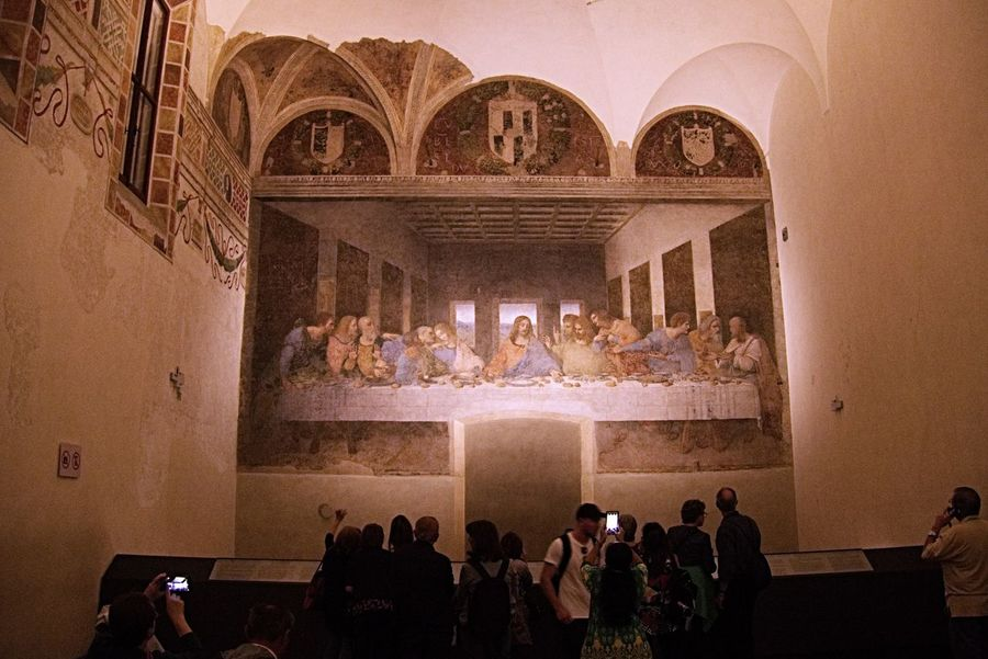 Thr Last Supper Last Supper The Last Supper Milan Milano Italy Travel Arts Culture And Entertainment Art Da Vinci People Indoors  Culture Painting
