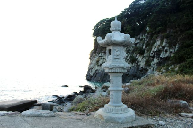 Japan Japanese Stone Lantern 灯籠 石灯籠 Oshima Religion Travel Destinations Landscape Rock - Object Tranquility Horizon Over Water Beauty In Nature Architecture Nature Outdoors Spirituality Cold Temperature Sea No People Beach