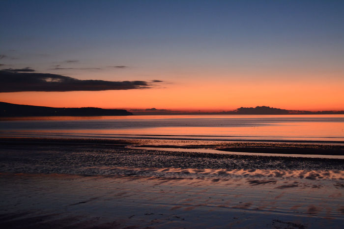ayr beach Ayr Arran  Sea And Sky Sunset Nature Water Scenics Sea Beauty In Nature Sky Outdoors Horizon Over Water No People Beach Tranquility Day