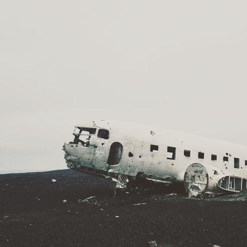 I wanna go back.. (by iPhone)Icelandic cCrushed Plane eSnap pTravel lTaking Photos sEnjoying Life eCool l Iceland OpenEdit