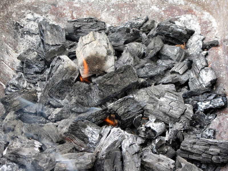 Smoking burning charcoal Anthracite Ash Barbecue BBQ Black Burn Carbon Charcoal Coal Combustion Danger Dark Dirty Energy Fire Flame Fossil Fuel Glow Heat Hot Material Mineral Orange Outdoor