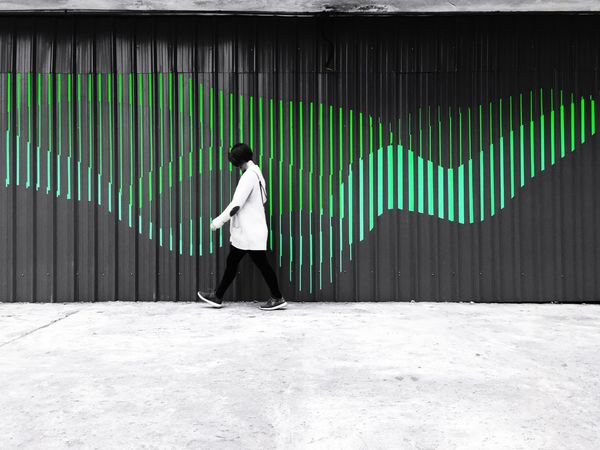 Wave Green Color White Black Streetphotography One Person Fashion Stories
