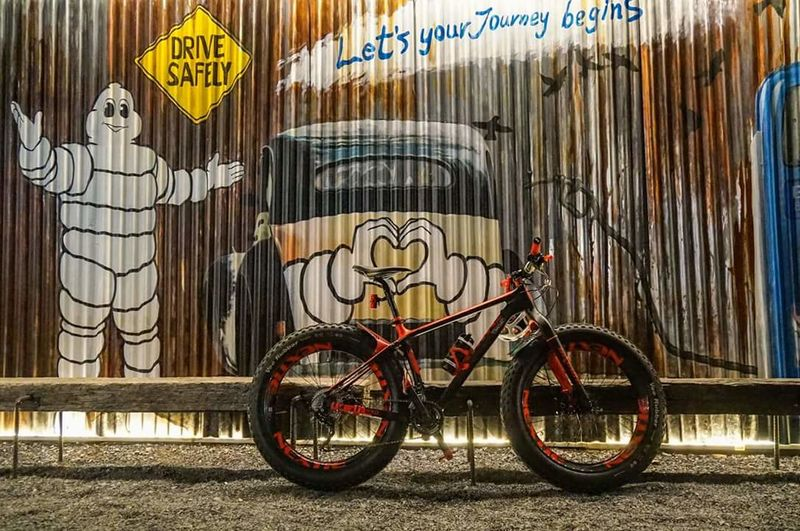 Fatbike Bike Bike Ride Fatbike Fatbikeworld Fatbikelife An Eye For Travel Graffiti Bicycle Text Transportation Mode Of Transport Street Art Stationary