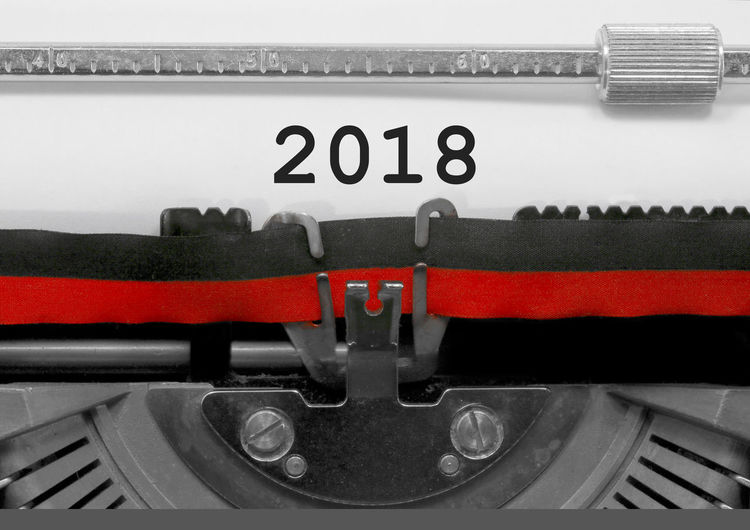 2018 Number by the old typewriter 2018 2019 BIG NR New Year Numbers Only Retro Text Type Writer Word Writing Backgrounds Number Numbers Numeral Numerals Page Single Typewriting Typing Vintage Written Years