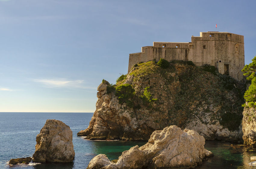 Magnificent Dubrovnik Croatia Dubrovnik Old Town Game Of Thrones King's Landing Turquoise Colored Adriatic Sea Architecture Built Structure Day Dubrovnik Dubrovnik City Walls Fortress By The Sea Game Of Thrones Location Historical Fortress History Kingslanding No People Sea Sea Fortress Sky The Past Water
