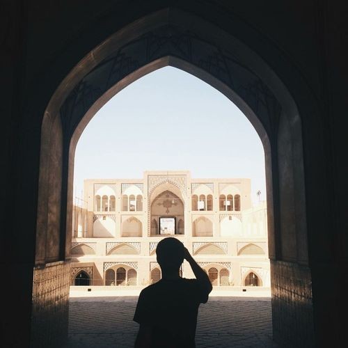 Iran Mustsee Arch Silhouette Architecture Travel Destinations Real People Day Tourism History People