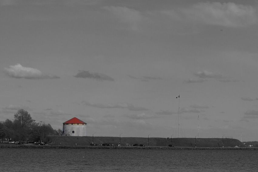 Red House Black And White