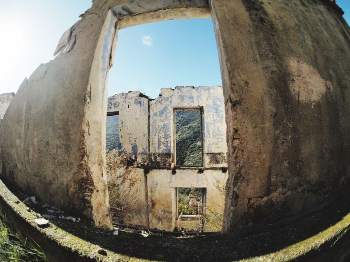 Window Nature Day Architecture Built Structure No People Sky Building Exterior Water Old Abandoned Outdoors History Sunlight