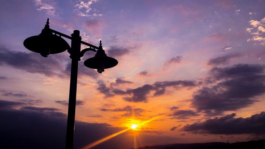 EyeEm Best Shots Sunset Street Light Sky Sun Outdoors Cloud Low Angle View Beauty In Nature First Eyeem Photo
