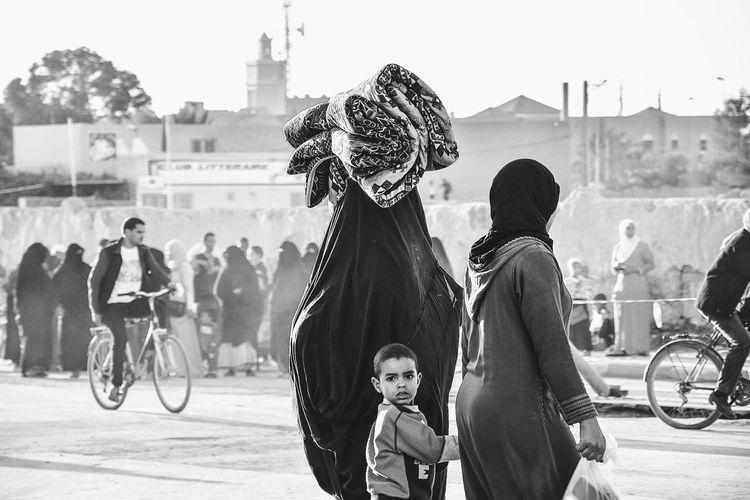 Marketplace Woman Power Children Headwear Marocco Rissani