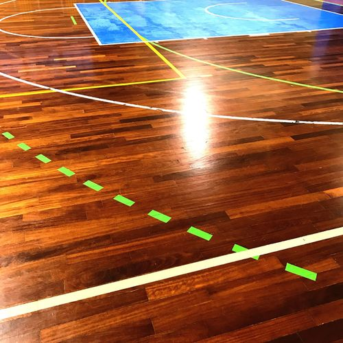 Burning Lines No People Wood - Material Illuminated Indoor Parquet Basketball