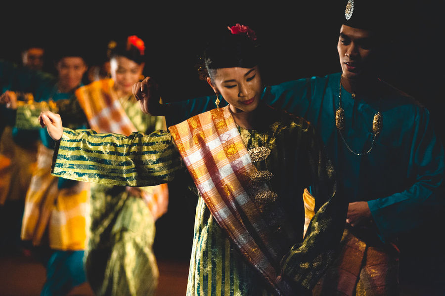 Adult Adults Only Arts Culture And Entertainment Crowd Lifestyles Men Night Nightlife Only Men Outdoors People Performance Popular Music Concert Togetherness Traditional Clothing Two People Women Young Adult Zapin Women Around The World The Photojournalist - 2017 EyeEm Awards