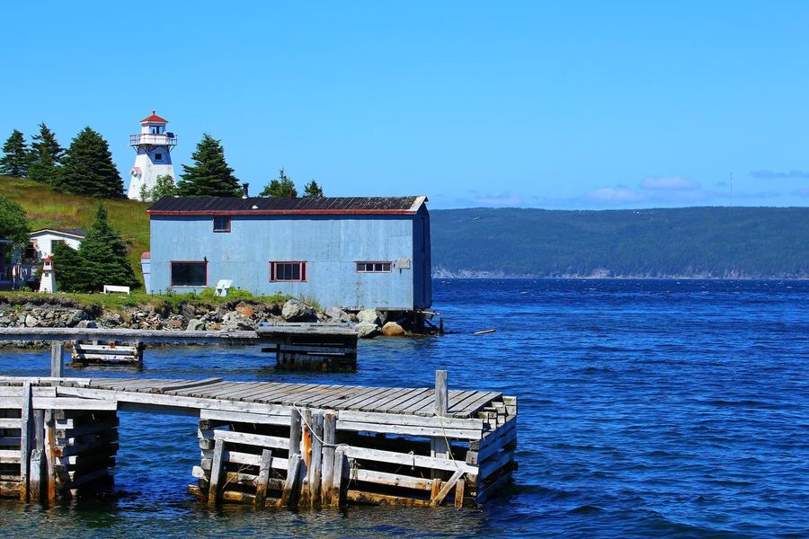 Woody Point Lightstation Architecture Beauty In Nature Blue Blue House Clear Sky Day Fisherman's Cottage Jetty Landing Stage Lighthouse Nature No People Outdoors Pier Quay Scenics Sea Sky Tranquil Scene Tranquility Warehouse Water Waterfront Wooden House Wooden Lighthouse EyeEmNewHere Neighborhood Map