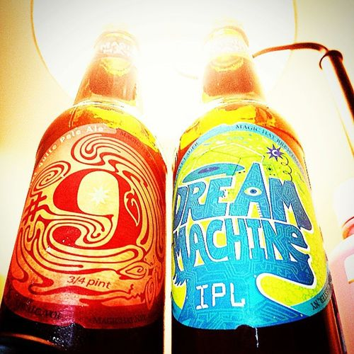 The only way to end a shitty week if you ask me, Brewtal Magichat Summervatiety Number9 9 Dreammachine Ipl NOTquitePaleAle Lager Craftbeer Craft Brew Beer Vt NY Cheers Drinking Drinkup Feelingnice Amazing Brewtal Awesome Drink Iseethelight Drinkbeer