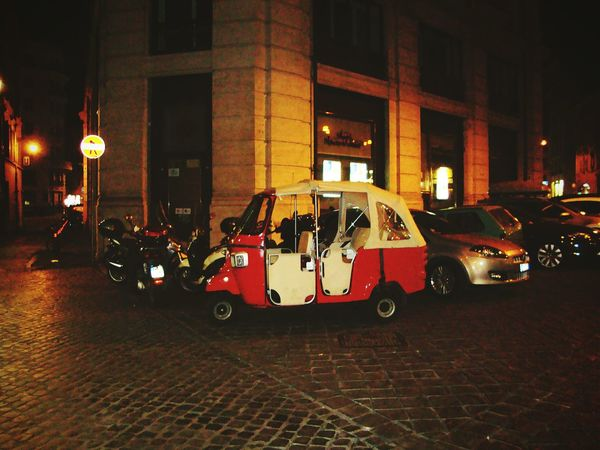 Auto in Rome Streetphotography In Rome Roma Romestreets Rome Italy Stand Out From The Crowd Romeatnight Auto