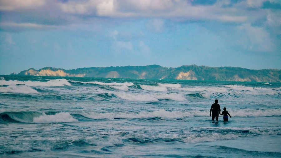 Nature Photography Nature Naturelovers Streetphotography Nature_collection Sea And Sky Travel Destinations Trinidad And Tobago Memories Moods Water Sea Wave Beach Men Adventure Full Length Silhouette Walking Water Sport Go Higher Inner Power Summer Exploratorium