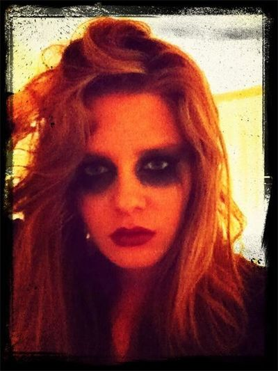 Make-up. Halloween. Selfportrait