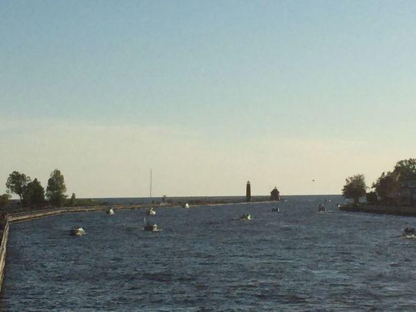 Water Lake Michigan Coast Guard Lighthouse Beautiful