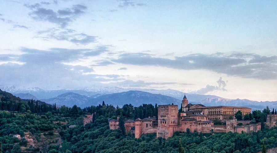 The glorious Alhambra Palace in Granada, Spain