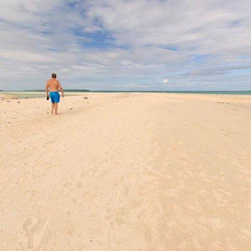 Walking at Sugar Beach, Sante Fe, Bantayan Island BantayanIsland  Itsmorefuninthephilippines SharePH Cnntravel beachlife travelgram tropicalisland bbctravel cnntravel gothere travelph visitph