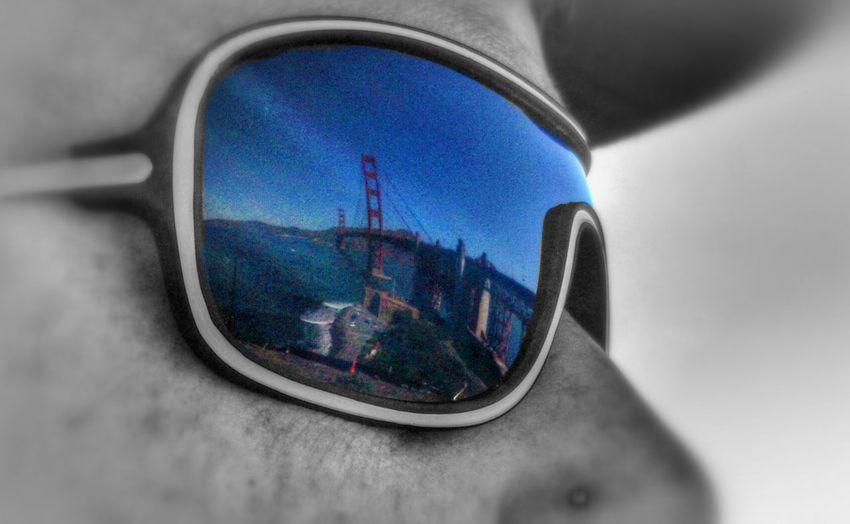 Reflection Sunglases Golden Gate Bridge Sightseeing