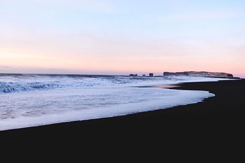 Black Sand beach in the morning shade of light. Lake Morning Light Morning Sunrise Nature Photography Beach Nature Iceland Blacksandbeach Sea Sunset Beach Beauty In Nature Nature Water Scenics Wave Tranquil Scene No People Sand Sky Tranquility Outdoors Horizon Over Water Day