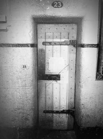 Old Melbourne Gaol Melbourne City Australia Australian History Ned Kelly Jail Historical Building History History Museum  Melbourne Door Old Buildings Blackandwhite Black & White Blackandwhite Photography Cell Gaol Thenumber23 23