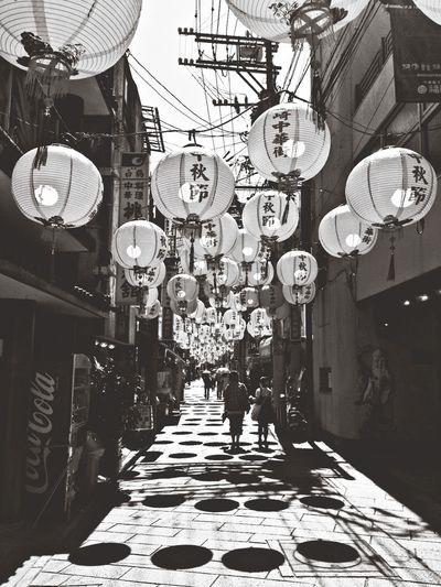 長崎中華街、中秋節。 長崎中華街