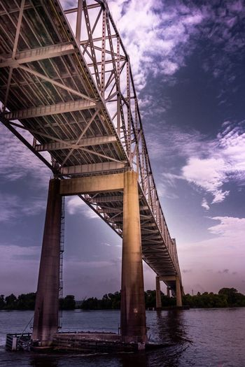 Low angle view of bridge over river