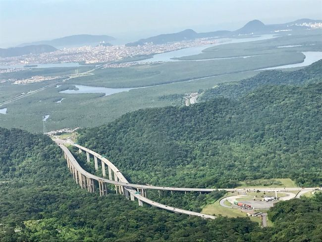 Santos - a road view Sea No Filter Mountain Beauty In Nature Scenics - Nature Environment Nature High Angle View Landscape No People