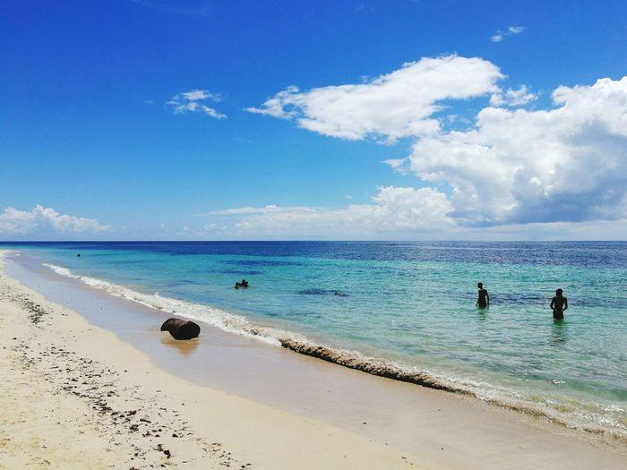 Sea Beach Horizon Over Water Shore Sand Tranquil Scene Sky Blue Beauty In Nature Ocean Seascape Nature Scenics Coastline Cloud Vacations Caribbean Caribbean Island Caribbean Blue Caribbeanpics