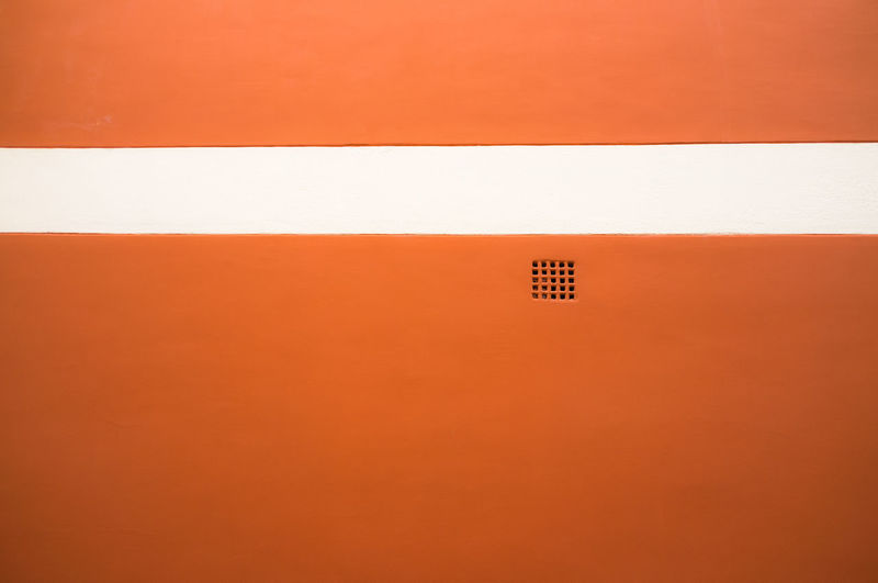 Close-Up Of Orange Wall