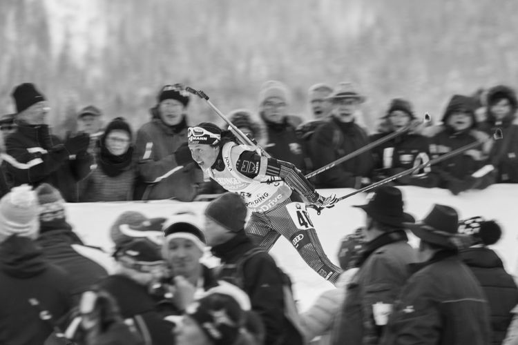 Biathlon Black And White Cheering Spectators Sports Wintersports Capturing Movement Photography In Motion