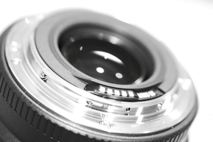 Contact point of my Canon 70-300mm Technology Close-up Single Object Camera - Photographic Equipment Indoors  Man Made Object Blackandwhite Black & White Cameralens Canon70-300mm