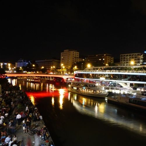 Vienna Night Life @ Donaukanal [3] Nightlife Nightview Vienna Wien