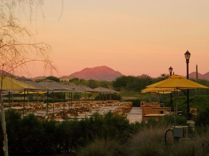 Arizona Sunsets Parties Over  Mountain Range Empty Places