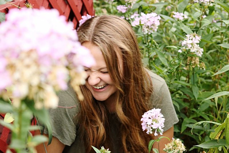 Let the light of Christ shine through you Lds LightOfTheWorld Flower Happiness One Person Nature Beautiful Woman Long Hair Smiling Freshness