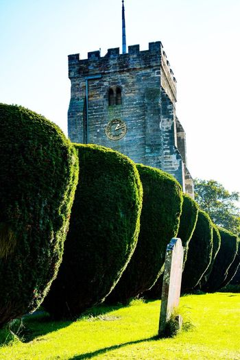A Church in Henfield, West Sussex ... Church Built Structure Building Exterior Architecture Sky Nature Day Building Sunlight Clear Sky History Outdoors The Past No People Low Angle View Plant Green Color Wall - Building Feature Water Old Growth