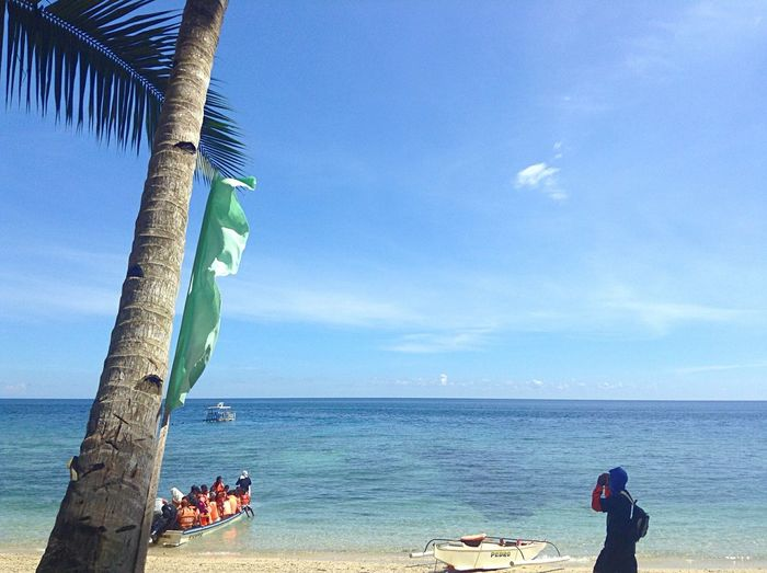 Tuka beach Sea Horizon Over Water Sky Beauty In Nature Day Real People Beach Tranquility Blue Island Island Life Water @ Tuka Marine Sanctuary , Kiamba, Sarangani , Mindanao Philippines