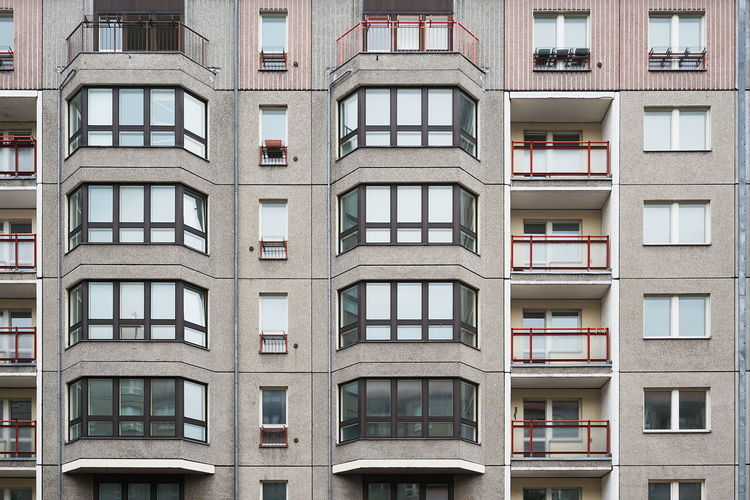 Apartment Architecture Architecture Balcony Building Building Exterior Built Structure City Conformity Façade Full Frame In A Row Low Angle View Modern Plattenbau Repetition Residential Building Residential Structure Socialist Modernism Tall - High Window Capture Berlin